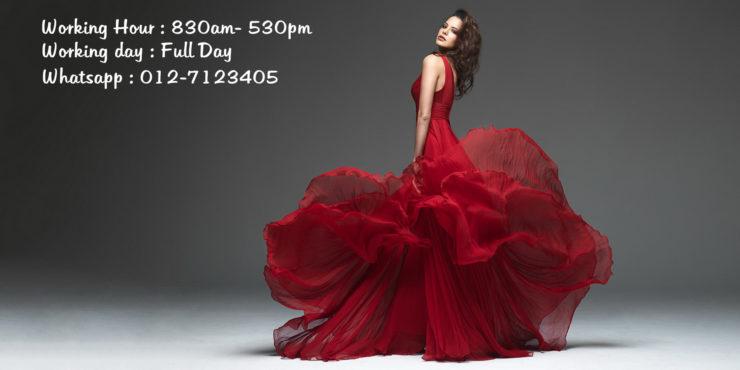 Wedding gown & accessories