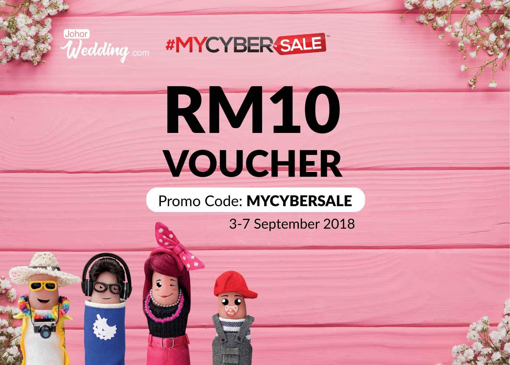 #MYCYBERSALE 2018 - Buy Your Wedding Accessories Now!
